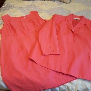 Plus Maggie McNaughton Dress/Jacket